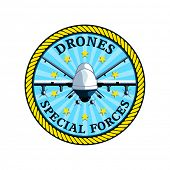 Badge for future special drones forces isolated