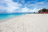 World best beach on Grace bay at Providenciales island, Turks and Caicos