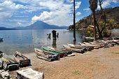 Fishing boats at Atitlan lake, Guatemala