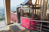 Terminal Of  Cable Car Line On Kok-tobe Mountain In Almaty