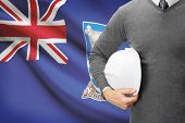 Engineer With Flag On Background - Falkland Islands