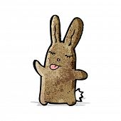 cartoon brown rabbit