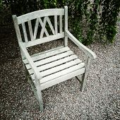 Old Wooden Chair In The Garden