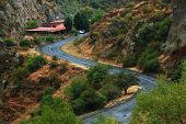 stock photo of armenia  - road to the monastic complex Geghard in Armenia - JPG