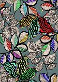 Floral pattern,liner artwork in vector.