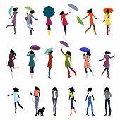Set Of Color Autumn Women