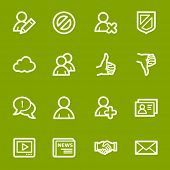 Community. Icons set