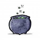 cartoon magic cauldron