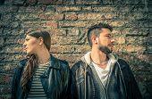 Unhappy Couple Upset