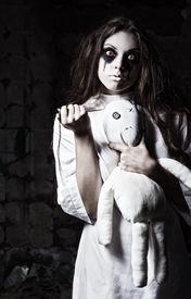 stock photo of rag-doll  - Horror style shot - JPG