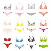 image of silk lingerie  - Vector set of lingerie - JPG