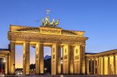 picture of rebuilt  - The Brandenburg Gate is a former city gate rebuilt in the late 18th century as a neoclassical triumphal arch and now one of the most well - JPG