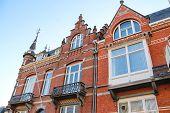 Постер, плакат: The Facade Of A Beautiful Home In The Dutch Town Den Bosch