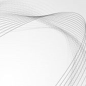 stock photo of dots  - Swoosh wave line abstract modern brochure backdrop  - JPG