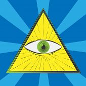 stock photo of freemason  - All seeing eye symbol - JPG