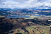 foto of lowlands  - Aerial photo taken during a flight over the lowlands of scottland in February - JPG