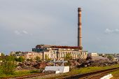 picture of exhale  - Damaged thermal power plant in Lisichansk - JPG