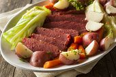 picture of corn  - Homemade Corned Beef and Cabbage with Carrots and Potatoes - JPG