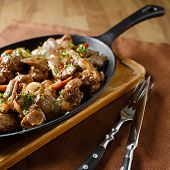 foto of liver fry  - Liver baked with mushrooms - JPG
