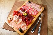 stock photo of deli  - Variety of meats - JPG