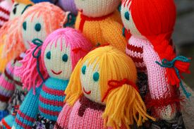 stock photo of rag-doll  - Handmade toys - JPG