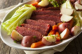image of st patty  - Homemade Corned Beef and Cabbage with Carrots and Potatoes - JPG