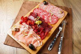 picture of smoked ham  - Variety of meats - JPG