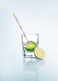 image of beaker  - Vodka with lemon  - JPG