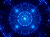 foto of graphene  - Blue glowing futuristic fractal new technology computer generated abstract background - JPG