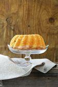 foto of sponge-cake  - festive dessert round sponge cake homemade pastries - JPG