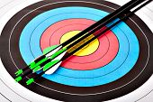 pic of archery  - Arrows in archery target - JPG