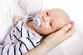 stock photo of lactating  - Happy baby - JPG