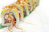 image of sushi  - fresh made Japanese sushi rolls called Maki Sushi - JPG