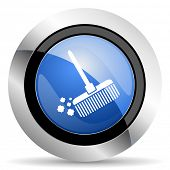 picture of broom  - broom icon clean sign original modern design for web and mobile app on white background  - JPG