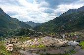 image of ifugao  - beautiful mountains with rice plantations in the mountains of the Philippine Islands - JPG