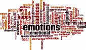 image of ecstacy  - Emotions word cloud concept - JPG