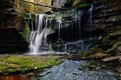 image of virginia  - Elakala Falls located in the mountains of West Virginia in Blackwater Falls State Park - JPG