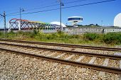 foto of train track  - A simple composition with sunlight - JPG