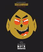 stock photo of evil  - Bright trick or treat card in vector - JPG