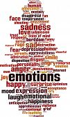 picture of ecstacy  - Emotions word cloud concept - JPG
