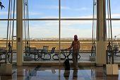 Traveller At Airport Terminal