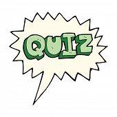 foto of quiz  - cartoon quiz sign with speech bubble - JPG
