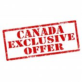 foto of exclusive  - Grunge rubber stamp with text Canada Exclusive Offer - JPG