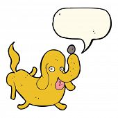 picture of sticking out tongue  - cartoon dog sticking out tongue with speech bubble - JPG