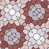 stock photo of kaleidoscope  - Kaleidoscopic seamless mosaic background  - JPG