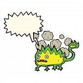 picture of demons  - cartoon little fire demon with speech bubble - JPG