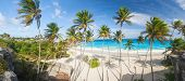 stock photo of bottom  - Bottom Bay is one of the most beautiful beaches on the Caribbean island of Barbados - JPG