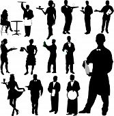 Waiters And Waitresses Silhouette