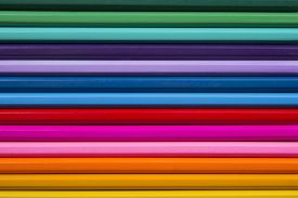 stock photo of colore  - Abstract background colored pencils DSLR photography pencils horizontal picture set of drawing fine arts background of colored pencils bright picture flat line multi - JPG