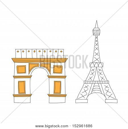 poster of Eiffel Tower, Paris eiffel tower. France eiffel tower vector. Eiffel tower europe landmark architecture travel and tourism monument eiffel tower. Famous construction structure eiffel tower.